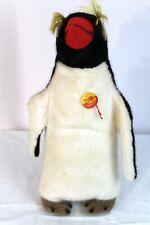Original Vintage Steiff Peggy Penguin Plush - Woven Fur - 2505/40 - 1976-1981