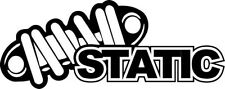 "STATIC JDM Vinyl Decal Sticker-6"" Wide White Color"