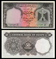 EGYPT 1966   ISS EAGLE 50 PIASTRES P 36  UNC ***