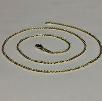 """14k Yellow Gold Cable Link Pendant Chain/Necklace 20"""" 1.5 mm 1.6 grams RCAB40"""