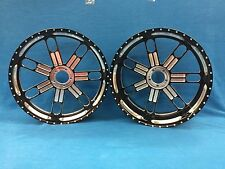 BLACK CONTRAST CUT 300 FAT TIRE SLAM WHEELS AND HUBS FOR SUZUKI HAYABUSA 2008
