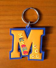 GOMA nombres Mando Llavero naranja/Azul Michelle - M Forma