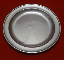 Set of 3 Shirley Williamsburg Virginia Handmade Pewter Dinner Plates