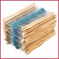 Metal Film Resistors Kit 1 Ohm 10M 1/4W 64 Values 1280PCS Assortment Assorted Se