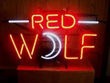 """Red Wolf Neon Light Sign 24""""x20"""" Beer Bar Decor Lamp Glass"""