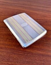 ART DECO STERLING SILVER & YELLOW / ROSE GOLD CIGARETTE CASE - NO MONOGRAM
