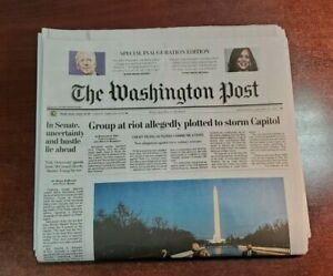 Washington Post Special Inauguration Edition January 20 Joe Biden 46th 1/20/2021