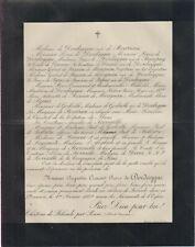 1889 Faire-part décès Augustin-Crescent-Pierre de DORDAYGUE - Lot-et-Garonne.