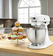 KitchenAid White Classic Stand Mixer 275W 4.3L Bake Off.