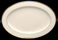 "Lenox Mansfield 16"" OVAL SERVING PLATTER Presidential, Gold Ivory, EXC 2nd Qlty"
