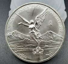 2000 Mo 1 oz Onza Mexico Libertad Gem BU UNC Ley .999 Plata Pura Millennium