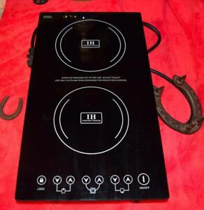 TWO BURNER ELECTRIC RV STOVE TOUCH CTRL CHILD LOCK DROP-IN 240 V AC 2 CAMPER