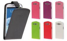 Samsung Galaxy S3 Kunstleder Schutzhülle Flip Case Etui, mit Folie