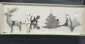 Pier 1 Imports Silver Plated Holiday Napkin Rings Set of 4