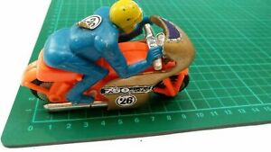 Vintage Motorbike Rider 750 cc Racing Plastic Made In Hong Kong Motorcycle Toy