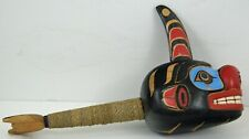FIRST NATION STYLE CEREMONIAL ORCA RATTLE ~ POSSIBLY HAIDA STYLE ~ ABORIGINAL