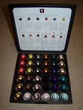 NESPRESSO POD/CAPSULE BLACK BOX HOLDER WITH 36 COFFEE CAPSULES