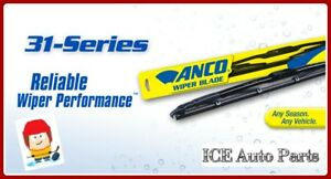 "16"" ANCO 31-16 Windshield Wiper Blade 31-Series 16 inch Black Metal"