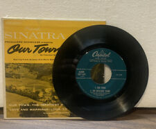 """FRANK SINATRA 45RPM 7"""" (OUR TOWN) w/Cardboard Picture Sleeve A74-2"""