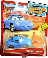 Pixar Cars WELCOME TO RADIATOR SPRINGS - SALLY with TATTOO Die Cast CAR Disney
