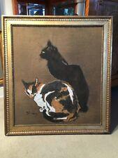 Steinlen, Theophile-Alexandre ,les deux chats, Pochoir um 1896