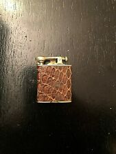 VINTAGE  AMERICAN POCKET CIGARETTE LIGHTER ,LEATHER WRAP,C.1930