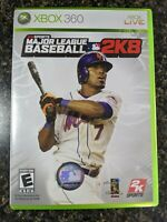 Major League Baseball 2K8 Xbox 360 With Manual Tested New York Mets José Reyes