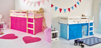 Tent for SHORTY Midsleeper Bed Girls Boys Bedroom Mid sleeper Blue or Pink