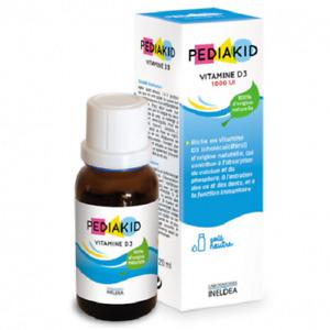 Pediakid Drops Vitamin D 3 100% Natural Calcium Phosphorus Bones and Teeth 20 ml