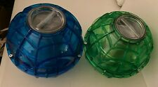 New listing Lot of 2 Original Play & Freeze Ice Cream Maker Ball 1 Pint Blue & Green