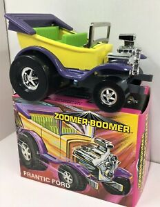 Zoomer Boomer Vintage Tin Frantic Ford Hot Rod * 1979,s New In Box *  WOW