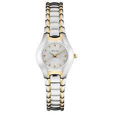 Bulova Classic Women's 98T84 Quartz Silver and Gold Tone Bracelet 22.5mm Watch