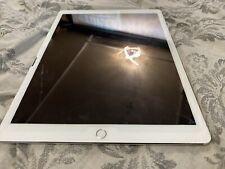 Apple iPad Pro 2nd Gen 256GB, Wi-Fi + 4G (Unlocked), 12.9 Silver Damaged Screen