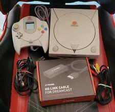 Sega Dreamcast w/ Games, Web Browser 2.0, Pound HDMI Cable and 2 Blue VMUs