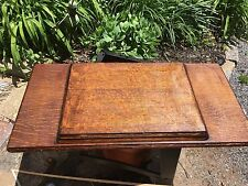 Antique Singer Sewing Treadle Wood Table Top Only no veneer  chipping