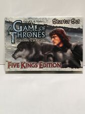 A Game of Thrones Collectible Card Game Five Kings Edition Starter Set New