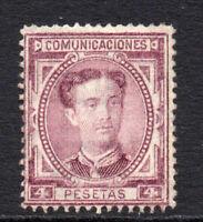 Spain 4 Pesetas Stamp c1876 Unused Some Gum (3580)
