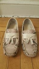 New: COLE HAAN Python Print Slip on Driving Loafers, Size 10.5M