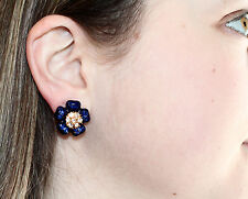 Kate Spade Carroll Gardens Statement Necklace & stud Earrings SET SAPPHIRE BLUE