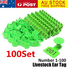 AU 100 Number Set Large Ear Tag Animal Goat Sheep Pig Cow Cattle Livestock Label