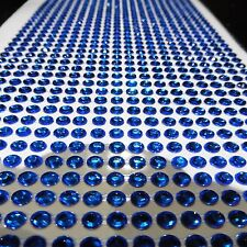1000 SELF ADHESIVE STICK ON DIAMONTE DARK DEEP BLUE CRYSTAL RHINESTONE DIAMANTES