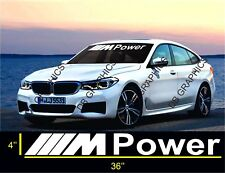 BMW M Power Windshield Decals Banners Car Stickers