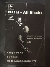3491 - ALL BLACKS 1970 tour:  Natal (SA) v New Zealand Rugby Programme 22/08
