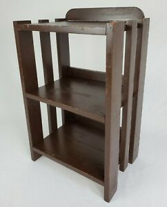 """Antique Bookshelf Book Case Plant Stand Arts & Crafts Mission Style Wooden 25.5"""""""