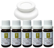 Aromatherapy Gift Pack - 5 Essential Oils + Burner