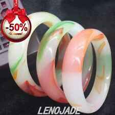 Beautiful Color Hetian Jade Bangle Bracelet 100% Chinese Natural Hand-Carved New