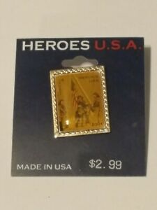 Vintage USPS 9/11 Heroes USA 2002 First-Class Stamp Lapel Pin First Responders