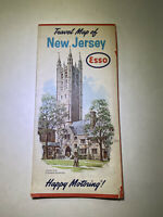 Vintage Esso Roadmap New Jersey 1963 Lithograph New Old Stock Travel Guide