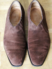 Edward Green lazyman slip-on shoes brown leather suede 8.5 / 42.5 rubber soles