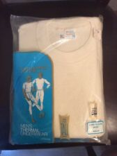 Deadstock Vintage Thermal Underwear Shirt 1970s JC Penney M Tall Ivory WaffleG10